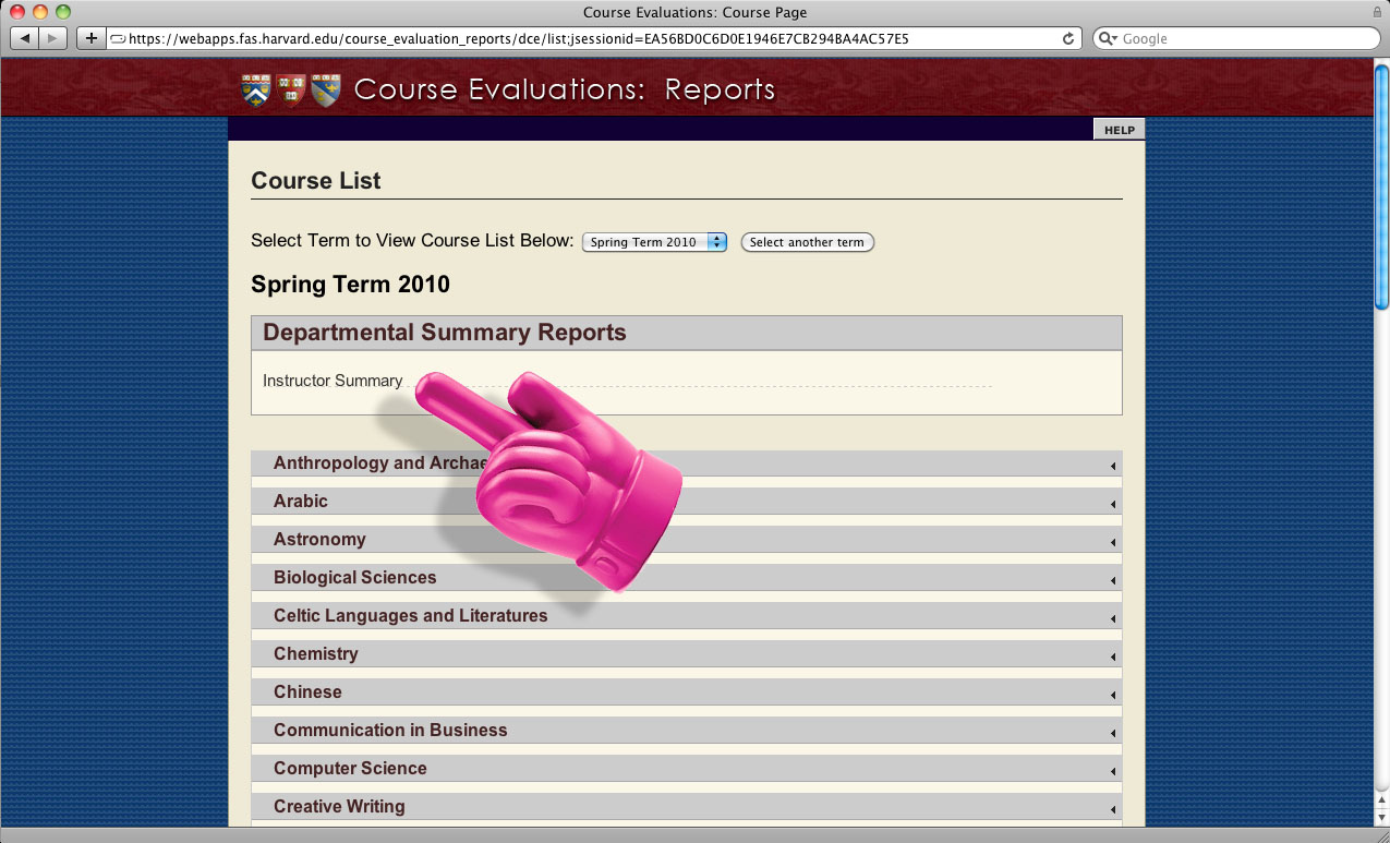 Brandon writes: Choosing courses with the course evaluation